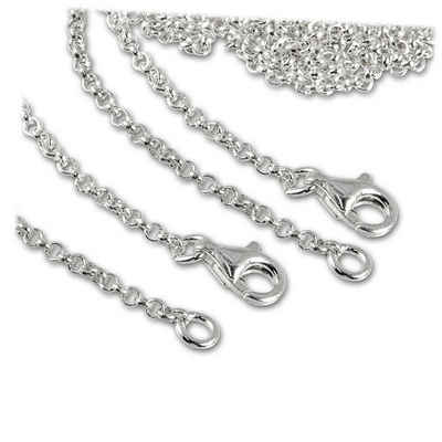 SilberDream Charm-Ketten-Set »FC0029X2 SilberDream Charmskette für Silber Charms« (Charmsketten), Charmsketten beide Ketten ca. 60cm, 925 Sterling Silber, Farbe: silber, Made-In Germany