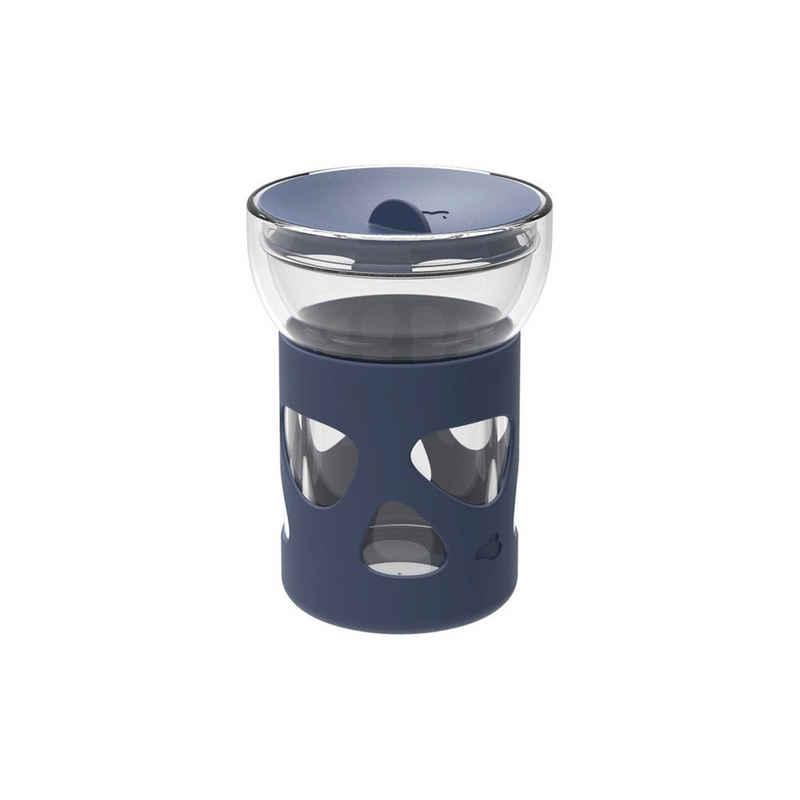 LEONARDO Vorratsglas »IN GIRO Cold To go 0,34l blau«, Glas, (1-tlg)