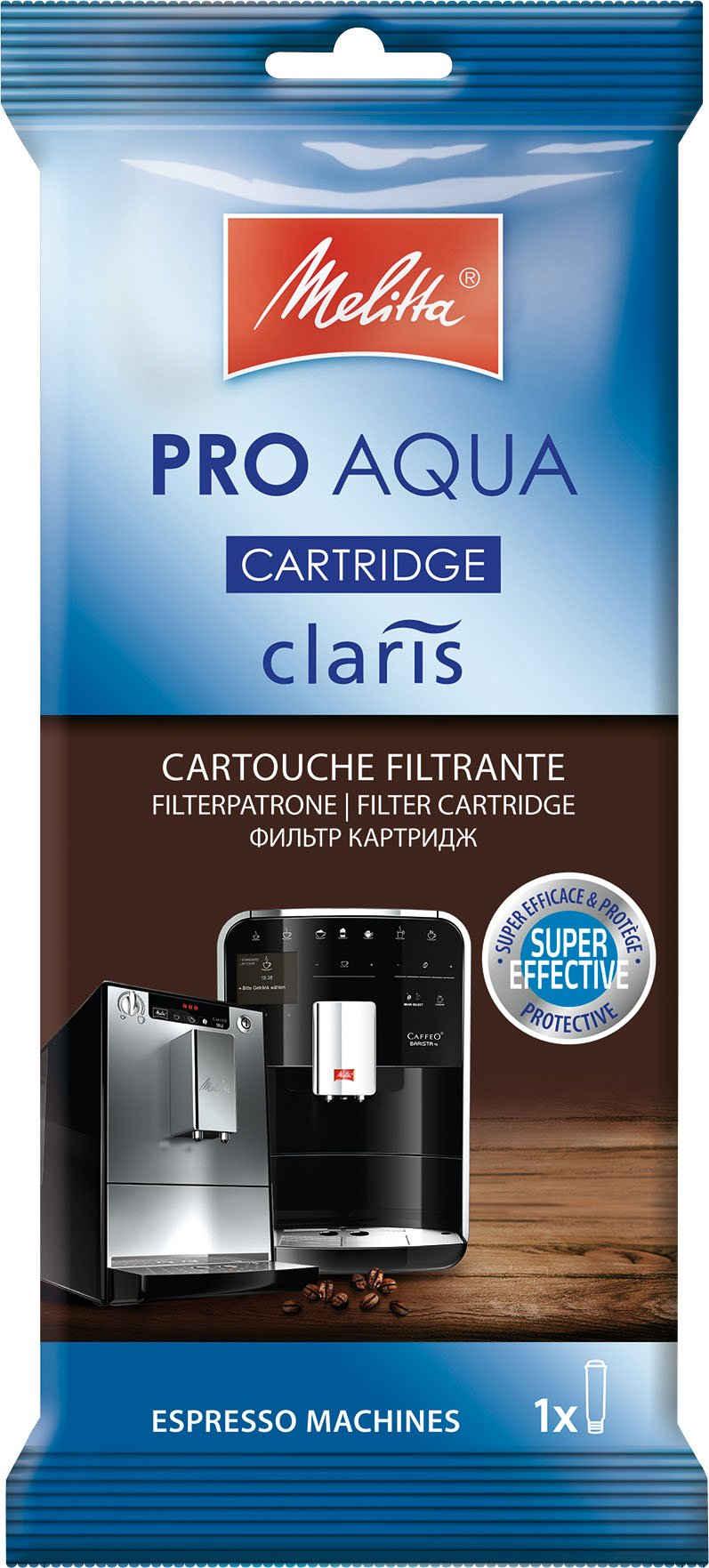 Melitta Wasserfilter PRO AQUA, Zubehör für Claris System in Kaffeevollautomaten