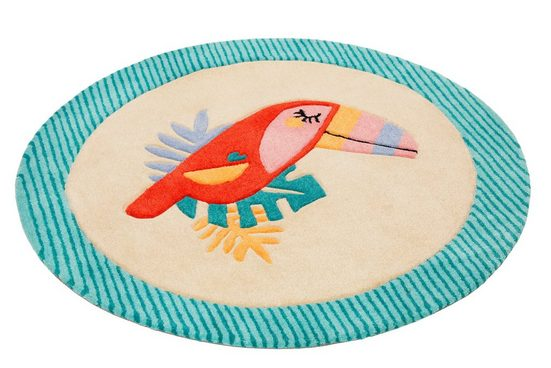 Kinderteppich »E-Toucan«, Esprit, rund, Höhe 9 mm, besonders weich, Motiv Toucan