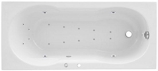 OTTOFOND Whirlpool-Badewanne »Julia«, (3-tlg), Typ 1 Premium, chrom