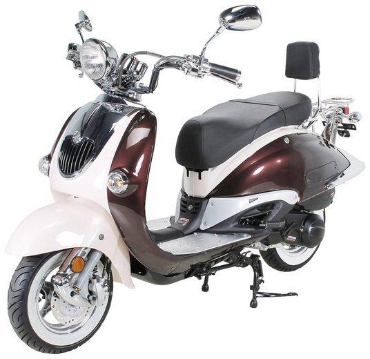 ACTIONBIKES MOTORS Motorroller »Retro ZN125T-H«, 125 ccm, Euro 4, braun