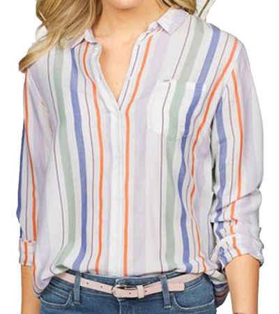 Lee® Hemdbluse »Lee Kent Kragen-Bluse gestreifte Damen Hemd-Bluse mit langen Armen Freizeit-Bluse Mehrfarbig«