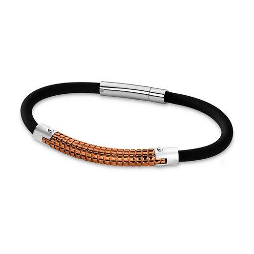 Lotus Style Edelstahlarmband »JLS1804-2-6 Lotus Style Armband schwarz roségold« (Armbänder), Armbänder für Herren Edelstahl (Stainless Steel)