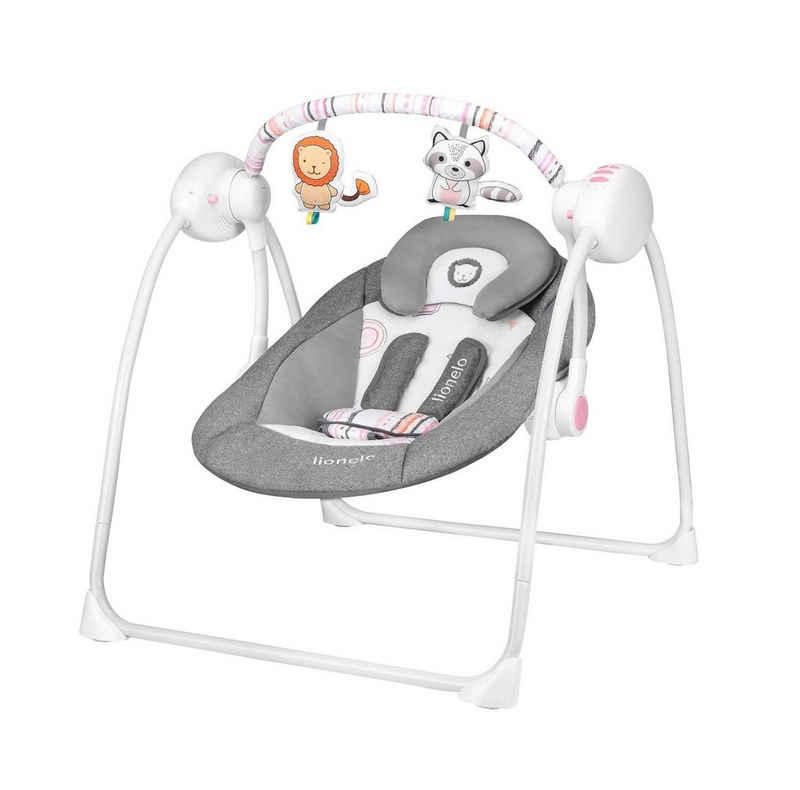 lionelo Babyschaukel »Lionelo Ruben elektronische Babyschaukel Schaukel Wippe Babywippe mit Moskitonetz 0-12 kg - batteriebetrieben oder per Netzeil«