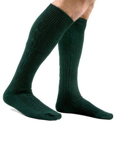 Almbock Trachtensocken »Trachten Socken lang« (1-Paar) grün