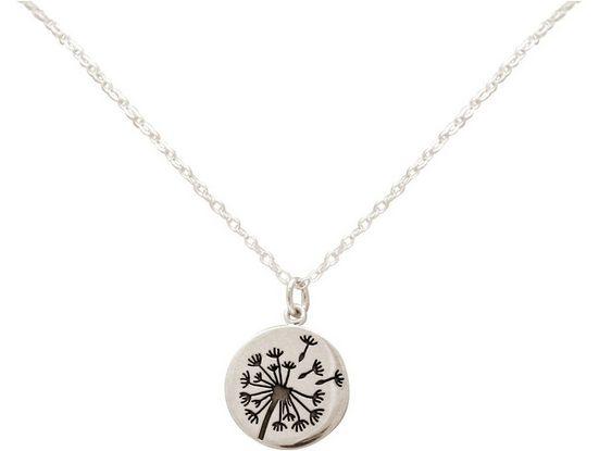 Gemshine Kette mit Anhänger »Alpin Löwenzahn Pusteblume«, 925 Silber