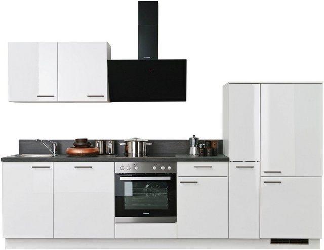Einbauküchen - Express Küchen Küchenzeile »Scafa«, ohne E Geräte, vormontiert und mit Soft Close Funktion, Breite 310 cm  - Onlineshop OTTO