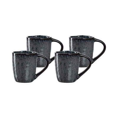 LEONARDO Espressotasse »MATERA Espressotasse 60 ml anthrazit 4er Set«, Keramik