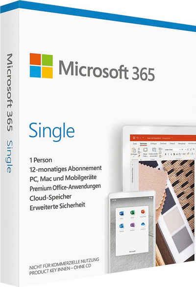 Microsoft Office 365 Single (Officeprogramm, Lizenzschlüssel)