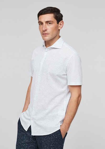 s.Oliver BLACK LABEL Langarmhemd »Slim: Hemd aus Jersey«