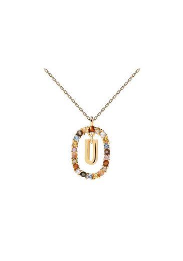 PDPAOLA Halsband »Buchstabenkette U«
