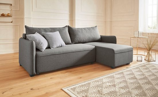 Guido Maria Kretschmer Home&Living Ecksofa, inklusive Bettfunktion, Bettkasten und Federkern