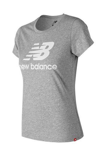 New Balance T-Shirt »New Balance T-Shirt Damen ESSE ST LOGO TEE WT91546 Athletic Grey«