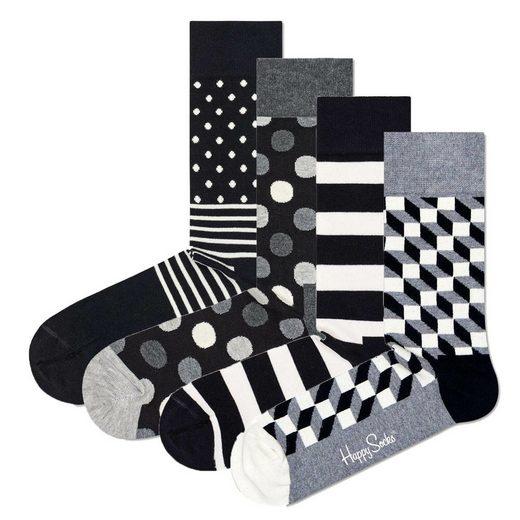 Happy Socks Kurzsocken »4er Pack Unisex Socken, Geschenkbox«