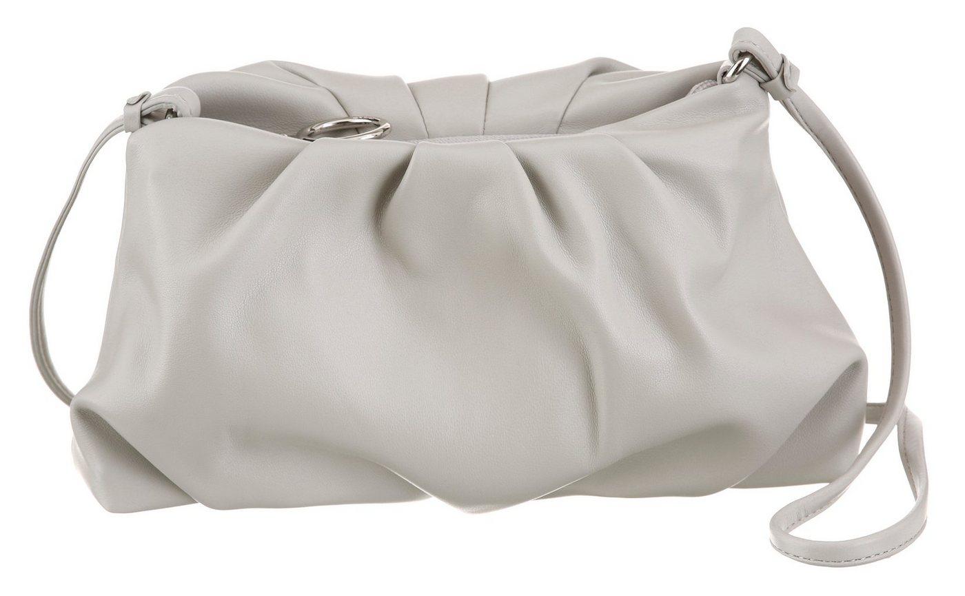 Clutches - Esprit Mini Bag »Moderne Pouch Clutch«, mit langem Umhängeriemen › grau  - Onlineshop OTTO