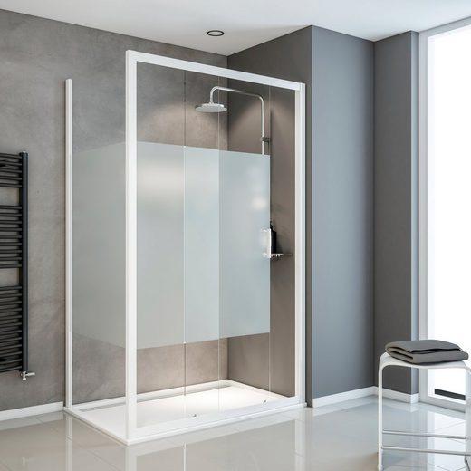 Schulte Eckdusche »Sunny«, BxT: 120x90 cm, Einscheibensicherheitsglas, Umlaufende Aluminium Profile
