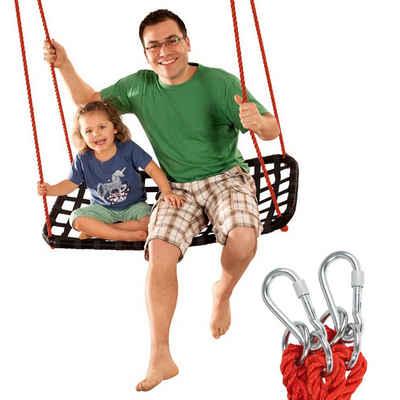 Idee+Spiel Spiel, »Nest-Schaukel Familien-Schaukel Robinson Outdoor«, Garten Rundschaukel XXL 3 Personen