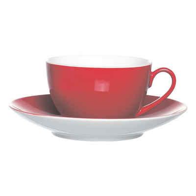 Ritzenhoff & Breker Kaffeeservice »Doppio« (4-tlg), Porzellan, inkl. Untertassen, spülmaschinenfest