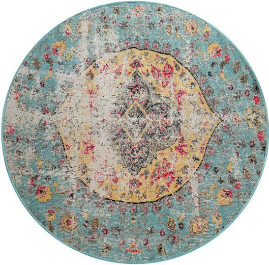 Teppich »Artigo 401«, Paco Home, rund, Höhe 11 mm, Kurzflor im Vintage Look, In- und Outdoor geeignet