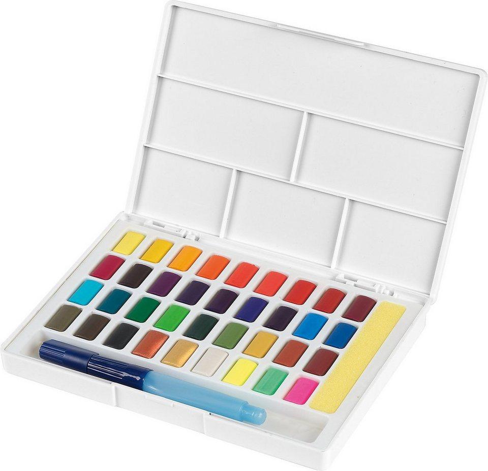 faber-castell malpalette »aquarellfarben, 36 farben
