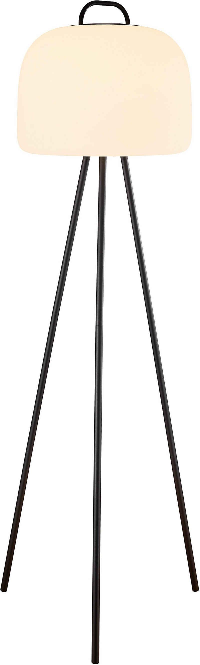 Nordlux LED Stehlampe »Kettle 36 Tripod 110 Metall«, inkl. LED, Batterie, integrierter Dimmer, Außen und Innen