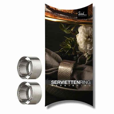 Eisch Serviettenring »2er Set Aurea Platin 50 mm«, Glas