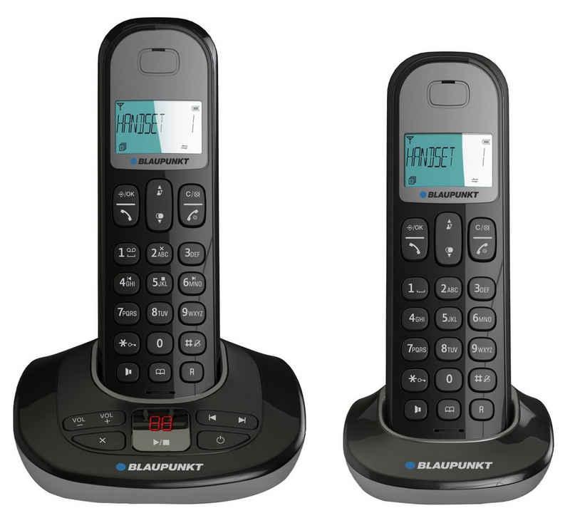 Blaupunkt »Blaupunkt Blaupunkt Option TAM DUO Dect Telefon Duo Set inkl. Anrufbeantworter« Schnurloses DECT-Telefon
