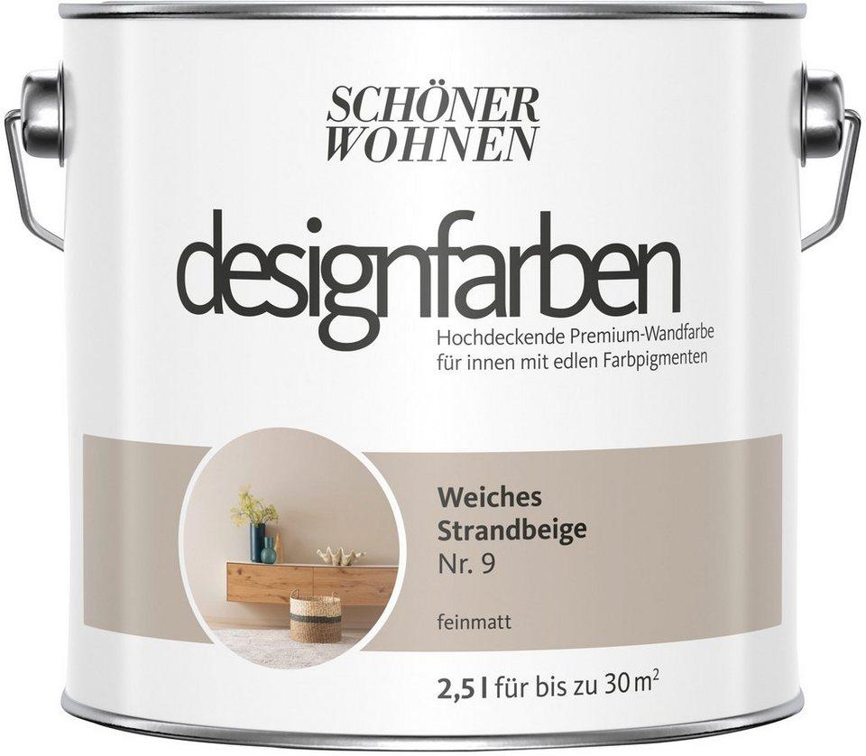 Schoner Wohnen Farbe Farbe Designfarben Weiches Strandbeige Nr 9 Feinmatt 2 5 L Online Kaufen Otto