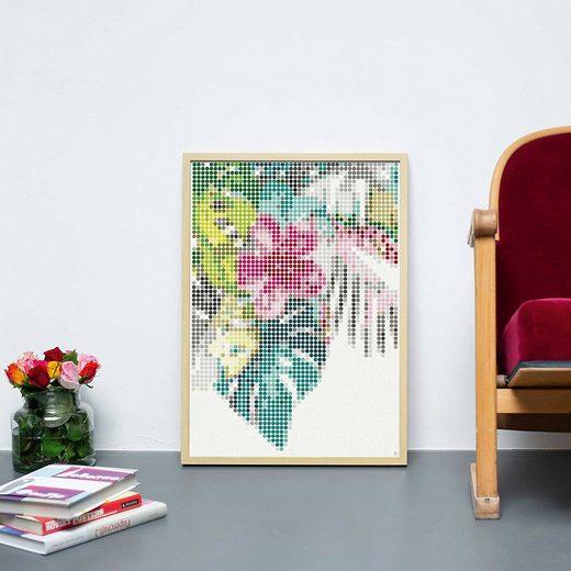 Dot On Malvorlage »dot on art - tropic, 50 x 70 cm«