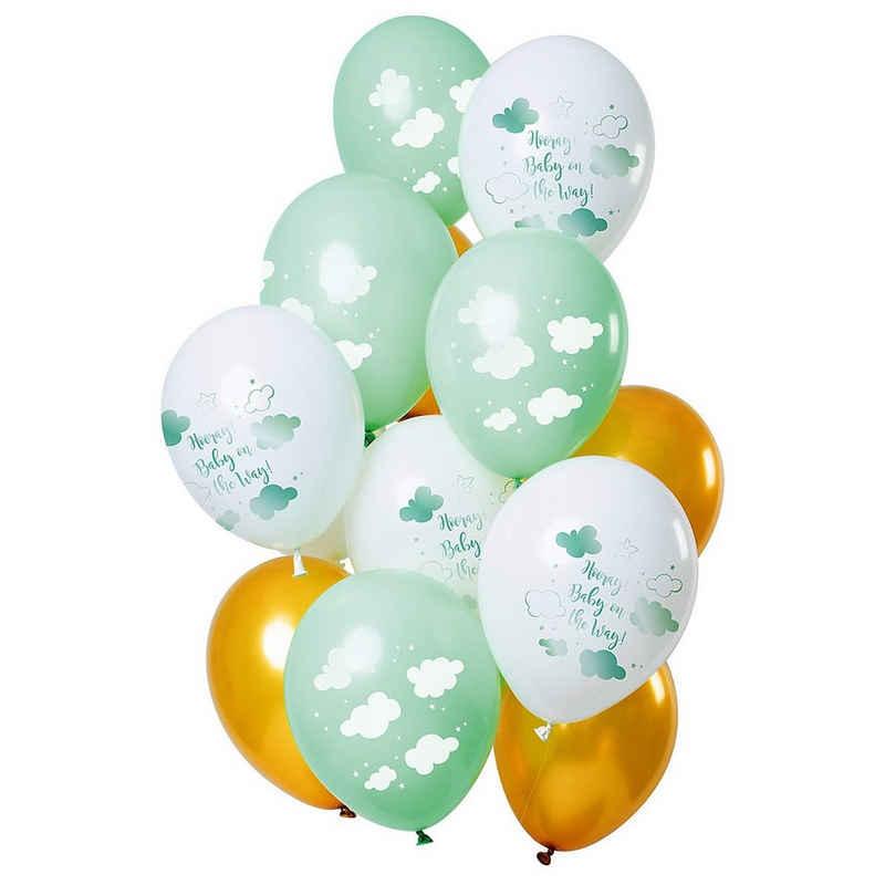 Folat Luftballon »Luftballons Baby Cloud Blue 30 cm, 12 Stück«