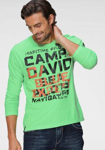CAMP DAVID Marškinėliai ilgomis rankovėmis su sta...