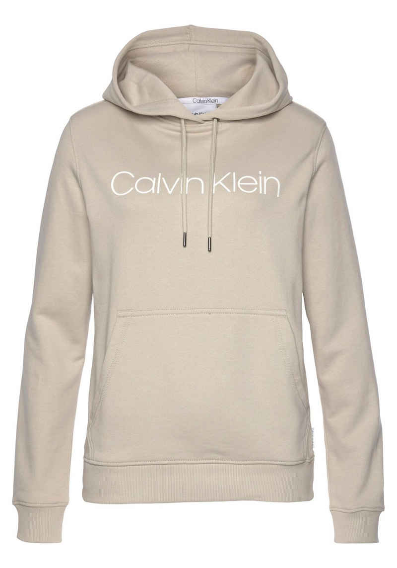 Calvin Klein Kapuzensweatshirt »CORE LOGO LS HOODIE« mit gesticktem Calvin Kein Logo-Schriftzug