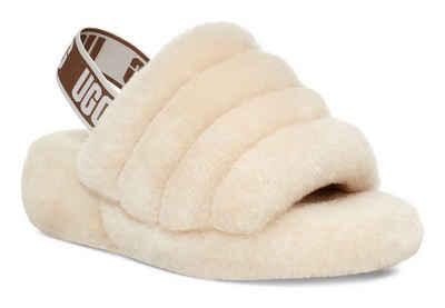 UGG »Fluff Yeah« Sandale mit elastischem Logo-Strap