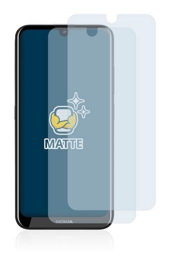 BROTECT Schutzfolie »für Nokia 2.2«, (2 Stück), Folie Schutzfolie matt entspiegelt