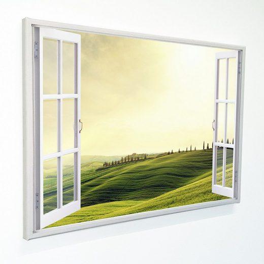 """Dekoli Leinwandbild »""""Fenster mit Aussicht""""«, Toscana, Leinwandbild geeignet für alle Wohnbereiche"""