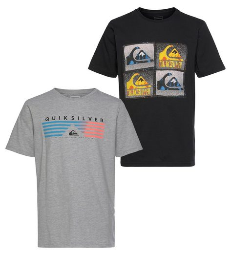 Quiksilver T-Shirt »SAME LINES FLAXTON PACK YOUTH« (Packung, 2er-Pack)