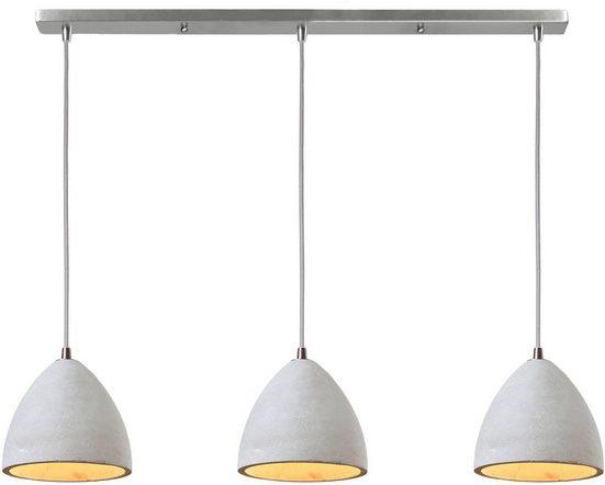 SalesFever Hängeleuchte »Nora«, 3x Lampenschirme aus Beton
