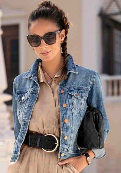 LASCANA Jeansjacke mit zwei Pattentaschen