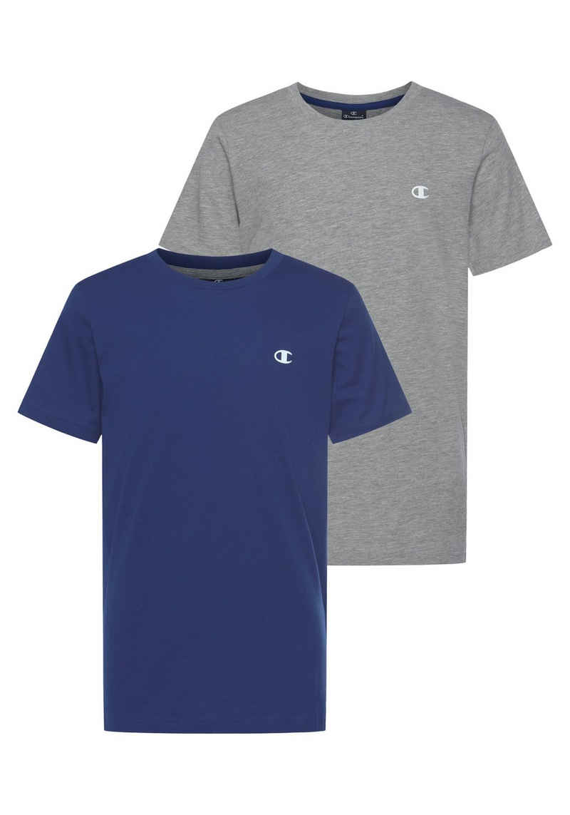 Champion T-Shirt »2 PACK CREW-NECK TEE« (Packung, 2-tlg)