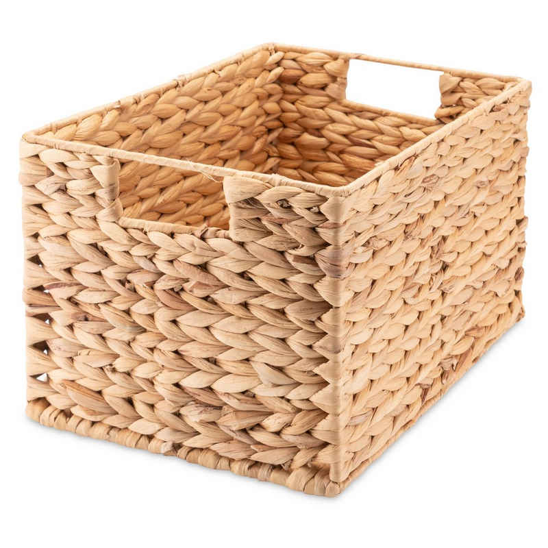Decorasian Regalkorb »Aufbewahrung, rechteckig geflochten aus Wasserhyazinthe« (Spar-Set, Einzeln oder im Set), Aufbewahrungskorb, nachhaltig in verschiedenen Größen