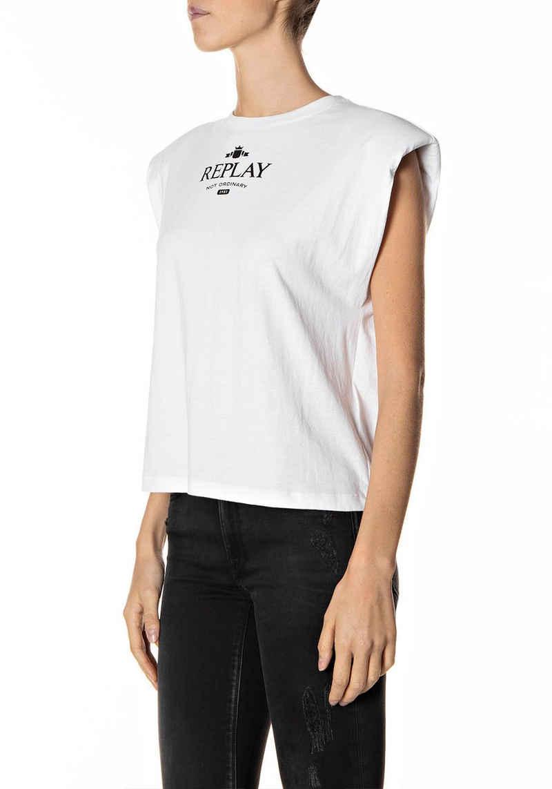 Replay T-Shirt aus reiner Baumwolle