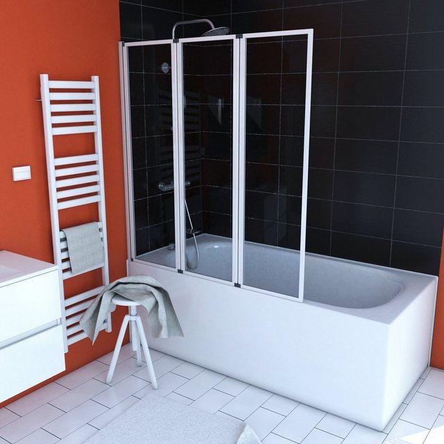 Badewannen und Whirlpools - Marwell Badewannenfaltwand »White Premium«, Einscheibensicherheitsglas, (1 tlg)  - Onlineshop OTTO