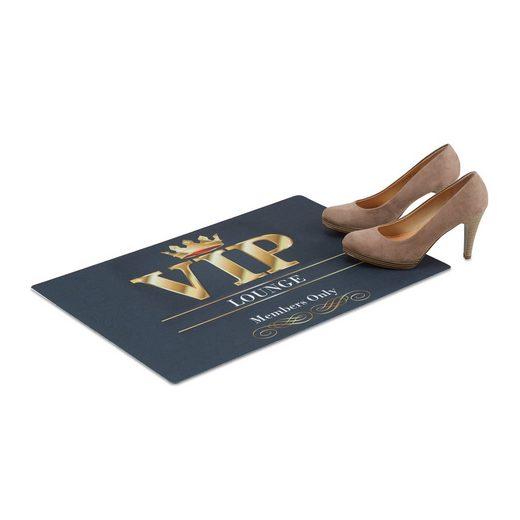 Fußmatte »Fußmatte VIP-Lounge 60 x 40 cm«, relaxdays, Höhe 0.2 mm