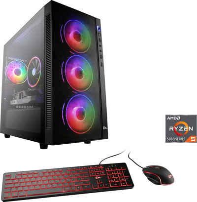 CSL Sprint V8522 Gaming-PC (AMD Ryzen 5 5600X, GeForce RTX 3060, 16 GB RAM, 500 GB SSD, Luftkühlung)