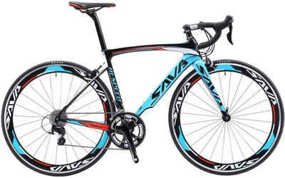 SAVA Rennrad »SAVA Warwind3.0 Carbon Rennrad 700C Shimano SORA R3000 18-Fach«, 18 Gang