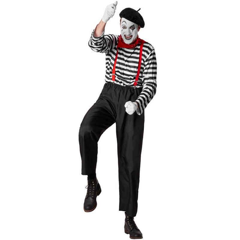 dressforfun Clown-Kostüm »Herrenkostüm Klassischer Pantomime«