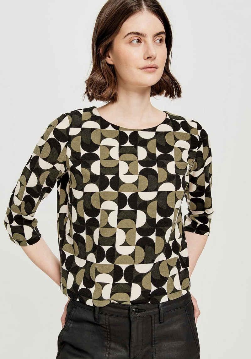 OPUS Shirtbluse »Falesha« mit Kellerfalte im Rücken