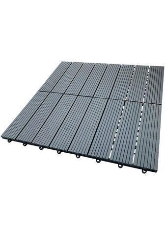 HOME DELUXE Terrassenplatten 30x30 cm 11-St. WPC-F...