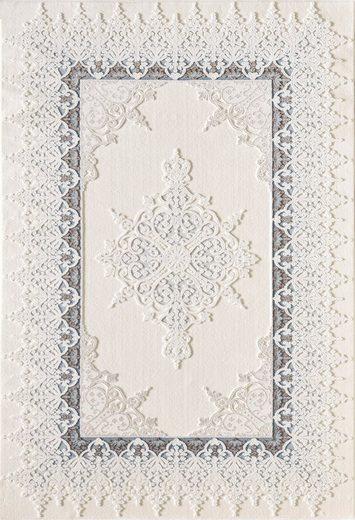 Teppich »Delüks 6987«, Sanat, rechteckig, Höhe 12 mm, Orient-Optik, mit Fransen